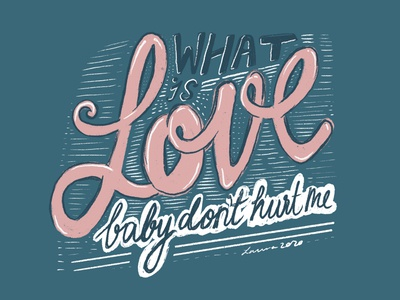What Is Love chalk white pink blue typography type lettering love hand drawn applepencil procreate drawing illustration design