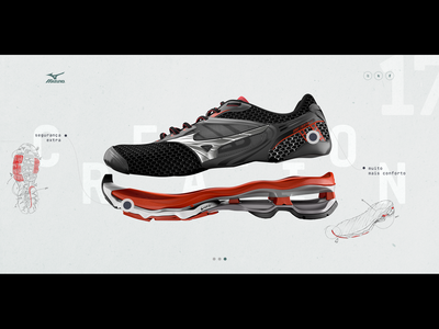 Mizuno's campaing product page