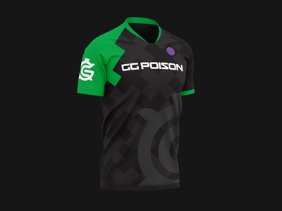 GG Poison Jersey brand shirt team video games games gaming jersey logo branding esports