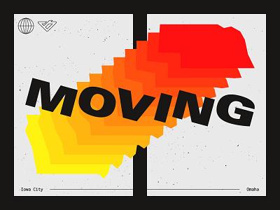 Moving laureman bailey moving omaha nebraska iowa blend typography poster
