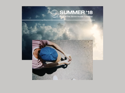 SUMMER '18 I typography layout retro vintage summer disposable camera film grain photography film 35mm