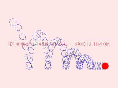 BOING quote roll ball design typography illustration illustrator line physics bounce animation