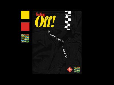 Feeling Off! hologram texture scan sticker cover magazine brutalist brutalism checkerboard vans typography cover design