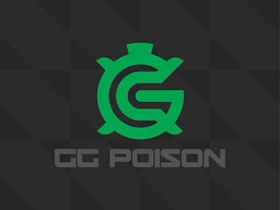 GG Poison Logo professional pattern typography gaming video game branding logo esports esport