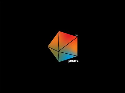 prsm. freeform line pentagon gradient geometric branding logo typography