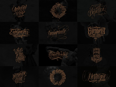 Chicano lettering set