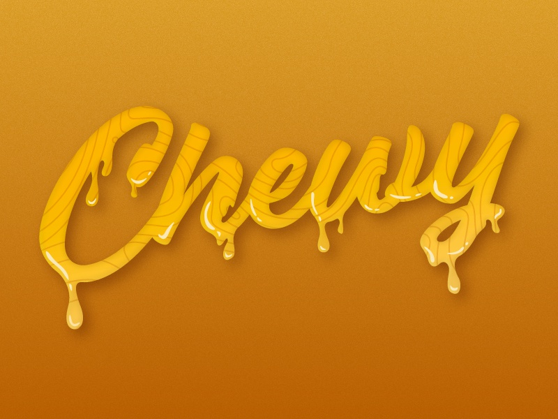 Chewy drip chewy type typography