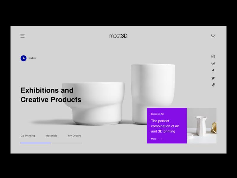 most3D print 品牌 ui