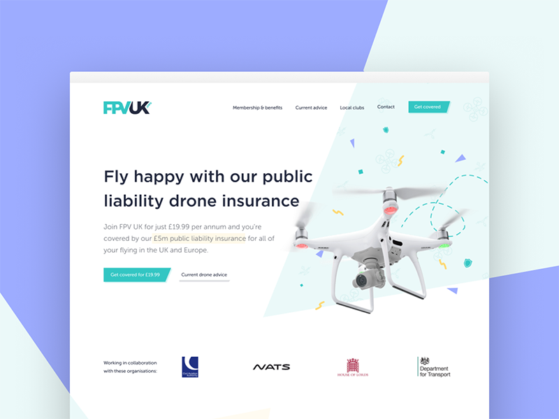 Membership homepage landing page social proof trust drone membership homepage user experience ui ux