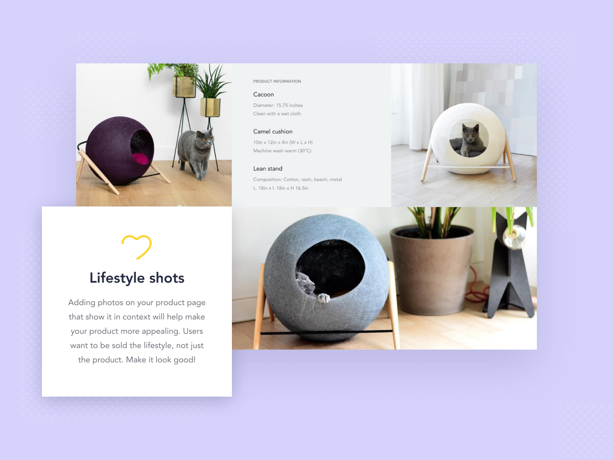 Product page details - meow concept ecommence e-commerce product design web design product product card cat icon user experience ux ui