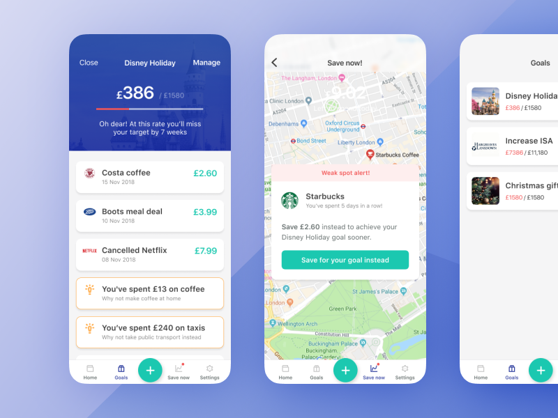 Financial savvy mobile app – design sprint product design prototype mobile app minimal data visualisation ui design sprint app  design user experience ux