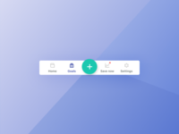 Icon navigation – mobile app