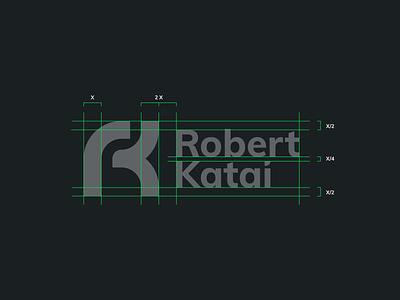 RK Monogram Logo - Layout Grid icosaedru branding logo design logo vector monogram logo monogram grid layout