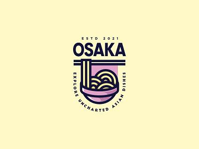 Osaka - Full color version food asian food brand mark mark restaurant restaurant logo asian cookery logo collection logo design logotype vector logo design