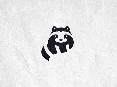 Rad Raccoon behance raccoon 2021 logo 2021 icosaedru black and white logo animal logo rad logofolio logo collection logo graphic design negative space logo negative space vector brand mark logo design