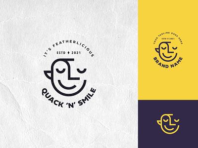 Quack 'n' Smile brand mark minimal symbol branding icosaedru modern smile quack logoflow logo logotype logoinspirations vector logo design