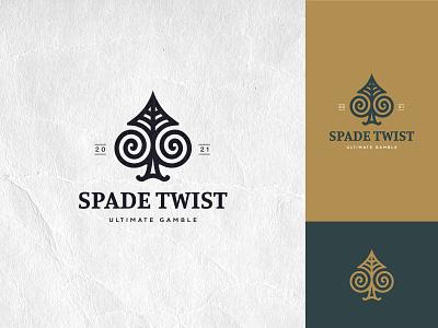 Spade Twist - Logo spiral twist gamble casino logo poker spade logo inspirations branding icosaedru logo logotype logoflow vector logo design
