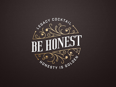 Be Honest Legacy Cocktail floral minimal serif modern be honest legacy identity cocktails bacardi logo design