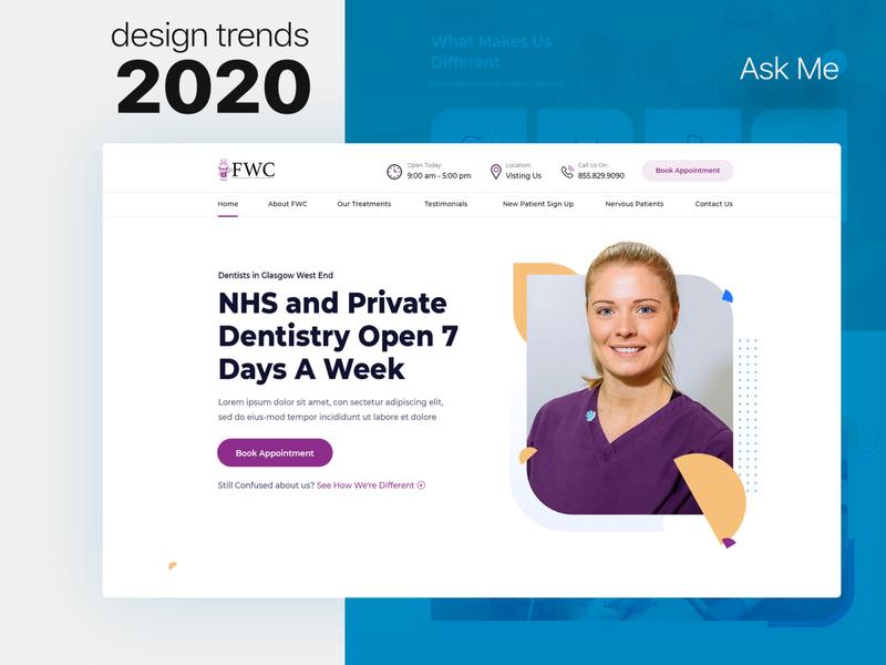 Doctor website design webdesign web simple color illustration ux clean ui photoshop design
