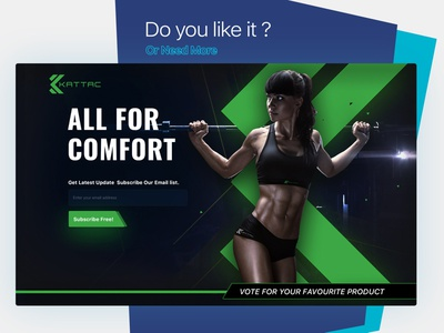 Landing page for gym ecommerce landing page design vote green fitness website design illustration simple photoshop design gym