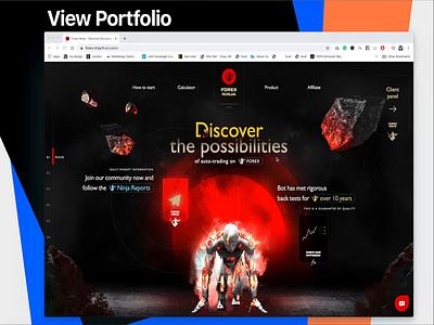 forex website type web design typography mobile ux color design website illustration clean photoshop