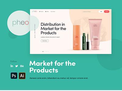 pheo website redesign design clean dribbble mobile illustration simple ux ui photoshop color
