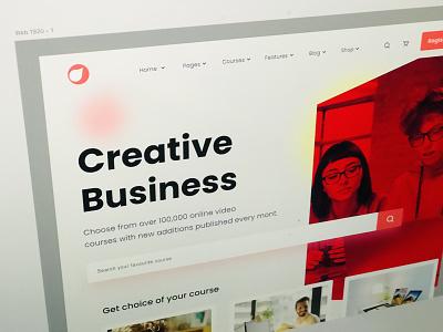 Creative Business Landing page website design webdesign website clean design color ux ui photoshop