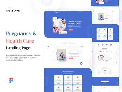 Pcare - Pregnancy & Health Care heath care web template website ui design clean design html