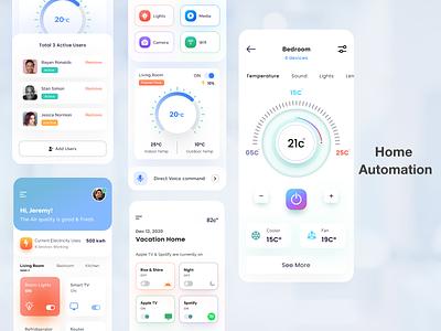 Home  Automation part2 figma ios mobile design dribbble vector clean simple app ux ui