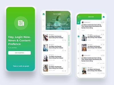 News G icon ux design mobile ios simple app ui clean branding