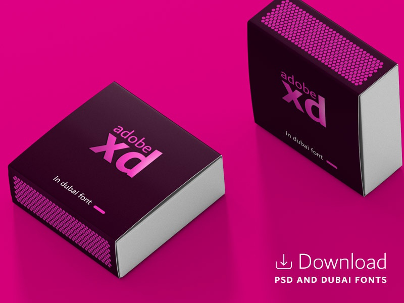 Adobe Xd Match Box presentation stationary mockup dowload free psd dubai color box