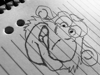 Angry Monkey Sketch