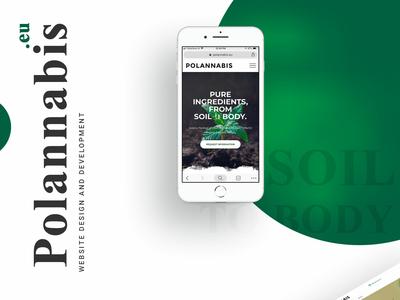 Polannabis - Responsive-Website-design web typography mobile responsive website color clean design simple photoshop ux