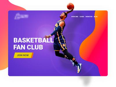 Basketball Website branding ui color clean design website photoshop