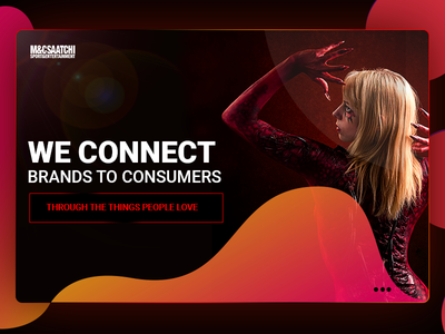 Mcsaatchi Banner banner design web  design space ui color branding simple clean photoshop design