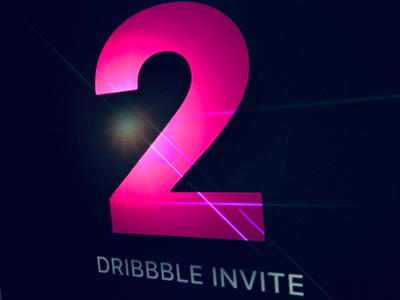 2 Dribbble Invites dribbble clean color simple invitations invitation invite photoshop design