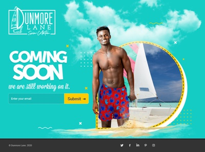 coming soon page design coming soon page color clean ui photoshop design