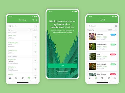 Mobile App - Seed to Sale 🌿 cannabis crm crypto ux ui mobile app minimal design branding blockchain