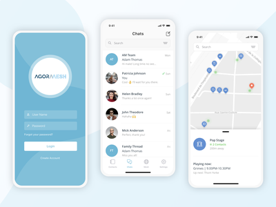 Mobile App - Agora Mesh app crypto blockchain ux ui mobile