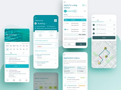 Cocoflo - Mobile App Design interface ios mobile ux ui communication application product schedule inspection minimalist clean app platform