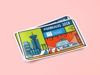 Sticker Design for #VanHacks 2018!