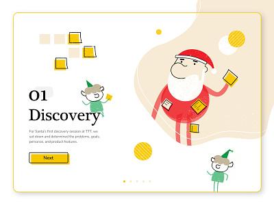 Santa's Polar Express App: Part 1 santa holiday design process discovery agency creative concept mobile holiday design christmas ux tech ui art app graphic design illustration design