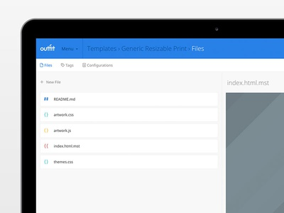 Repository Files js css html files repo ux ui engine net outfit