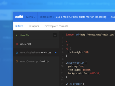 Repo Files js css html code text editor file files template repository