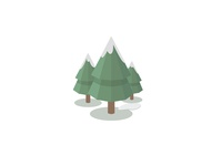 Winter Forest Low-poly