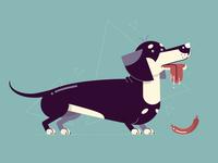 Flat Dogs: #01 - Dachshund
