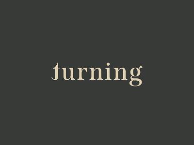 Turning logo typography dancer dance logo branding design