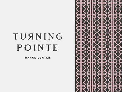 Turning Pointe dance pattern branding typography logo design graphic illustration