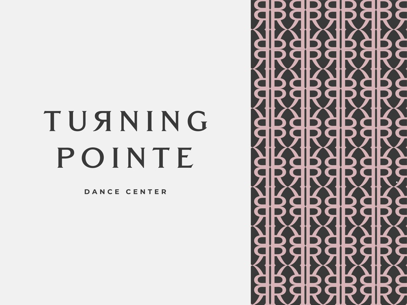 Turning Pointe dance pattern branding typography logo design graphic illustration