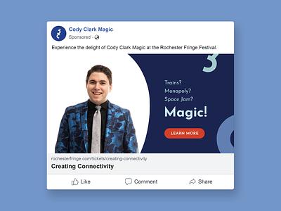 Cody Clark Magic | Event Digital Ad magic show magic vector typography graphic digital ad facebook colorful advertising branding facebook ad